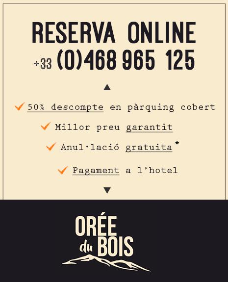 Tiquet Promoció - Hotel Orée du Bois